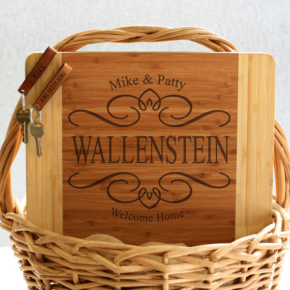 """Wallenstein Filigree Design"" Cutting Board & Key Chains"