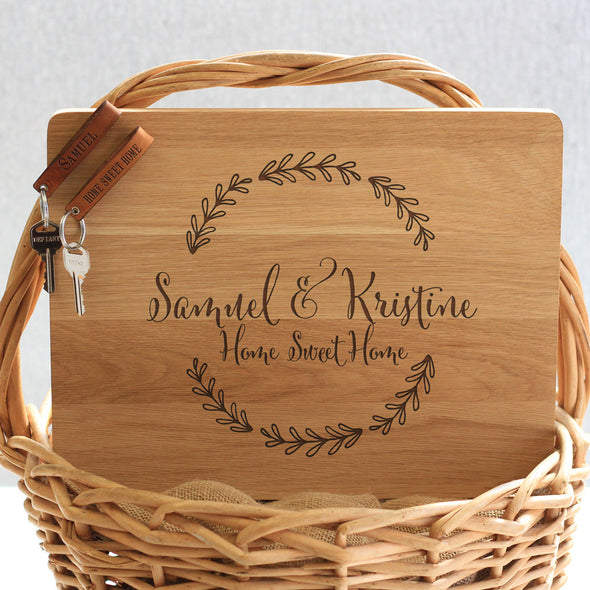 """Samuel & Kristine Floral"" Cutting Board & Key Chains"