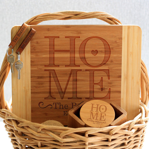 """Home Bakers"" Cutting Board, Key Chains & Coaster Set"