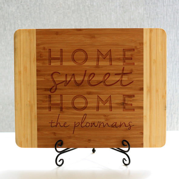 """Home Plowmans"" Cutting Board & Stand"