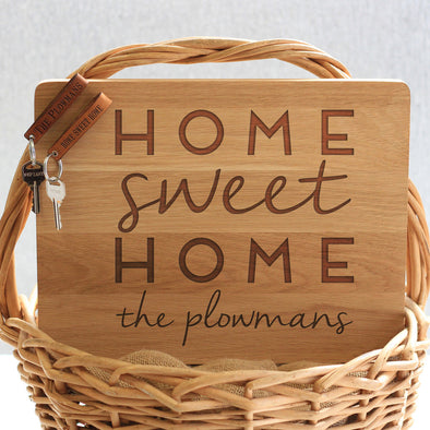 """Home Plowmans"" Cutting Board & Key Chains"