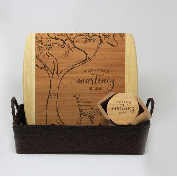 Closing Gift Package Personalized With Bench Under A Tree