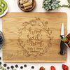 "Flower Wreath Custom Cutting Board, Home Sweet Home, Custom Engraved Cutting Board, Personalized Cutting Board ""Charles *& Morgan Christensen"""