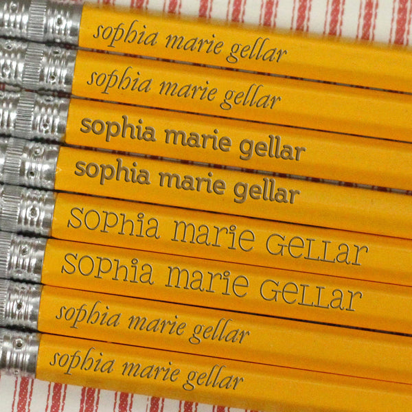 "Engraved Pencil Packs - ""Sophia Marie Gellar"""