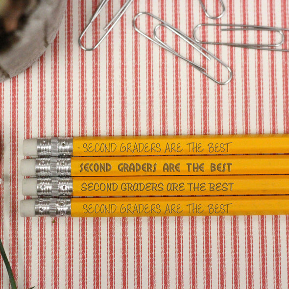 "Engraved Pencil Packs - ""Second Graders are the Best"""