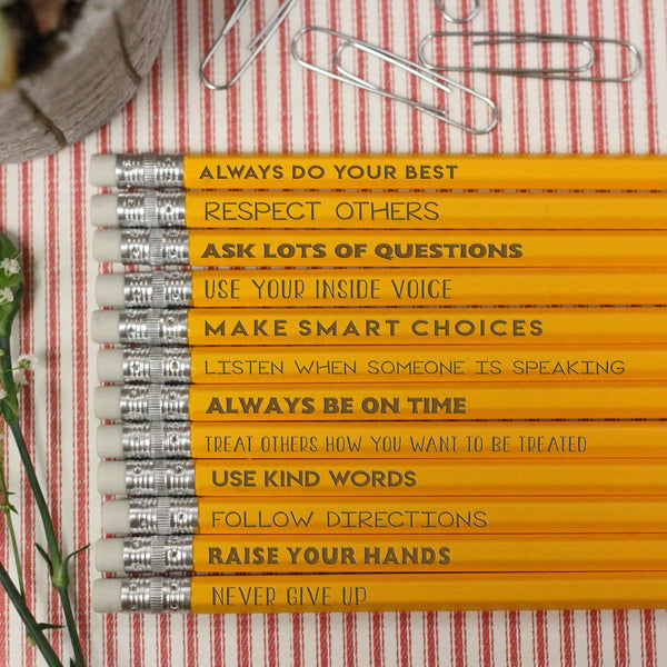 Class Rules Pencils, Teacher Pencils, Classroom Rules Pencils