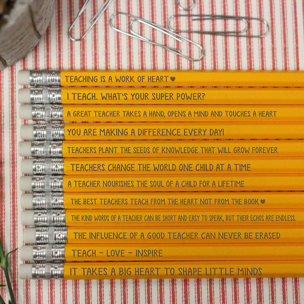 Teacher Classroom Pencils, Teacher Pencils, Positivity Teacher Pencils