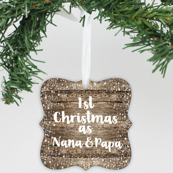 Personalized Ornament Our First Christmas As Nana & Papa