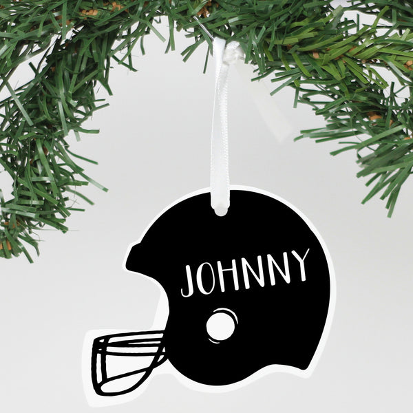 "Personalized Aluminum Ornament - ""Football Helmet"""
