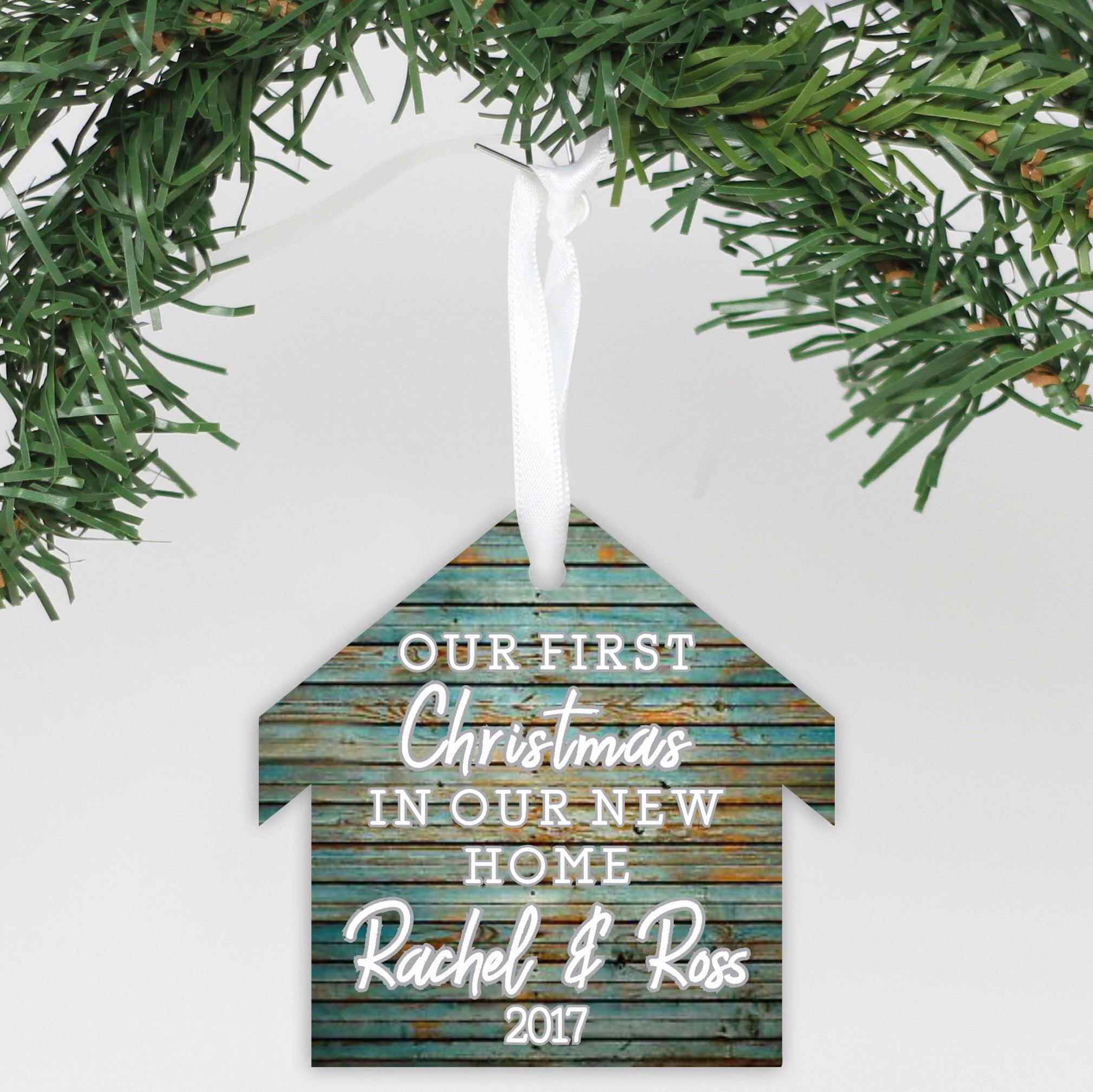 """Personalized Christmas Ornament - """"Our First Christmas In ..."""
