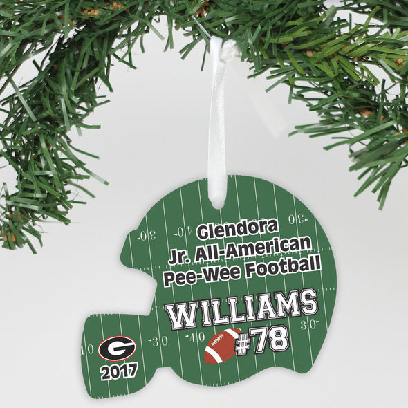 "Personalized Aluminum Ornament - ""Football Number"""