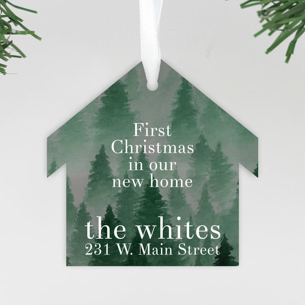 "Our First Christmas In our New Home Ornament, Custom Ornament, Personalized Christmas Ornament ""The Whites"""
