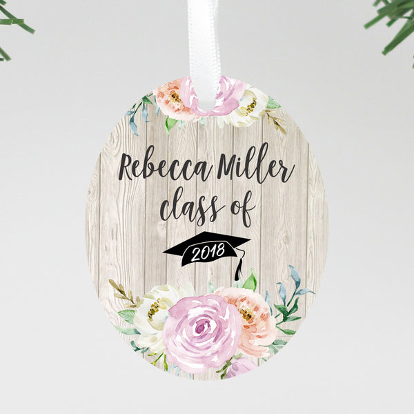 "Custom Graduation Ornament, Personalized Grad Ornament, Custom Christmas Ornament ""Rebecca Miller"""
