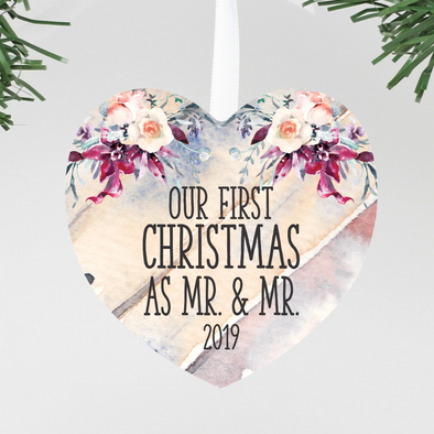 Our First Christmas As Mr. & Mr. 2019 Christmas ornament