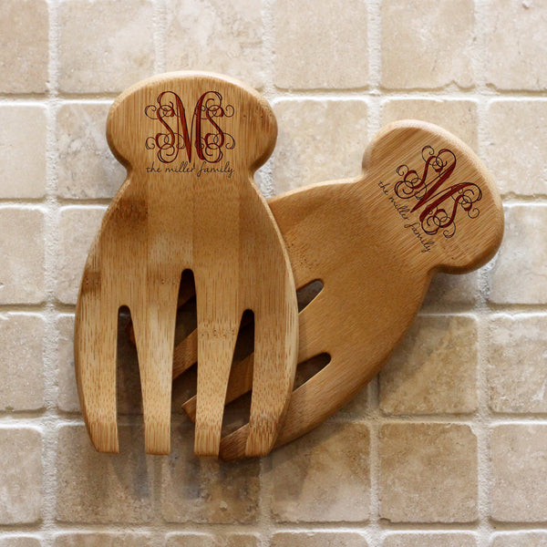 "Bamboo Salad Hands - ""Monogram Miller Family"""