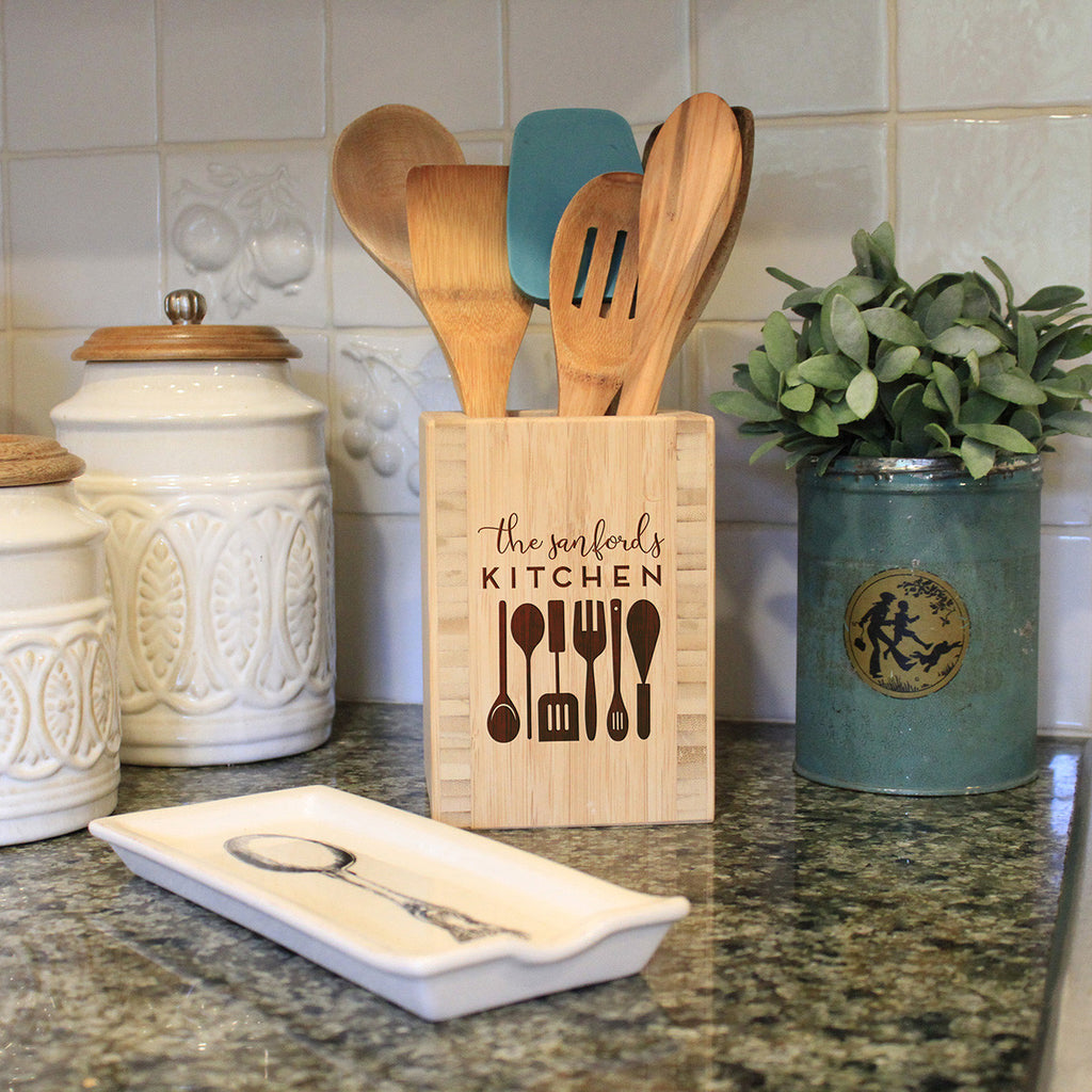 "Utensil Holder - ""Family Name Kitchen"""