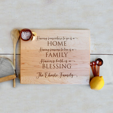 "Custom Maple Cutting Board ""The Ehmke Family"""