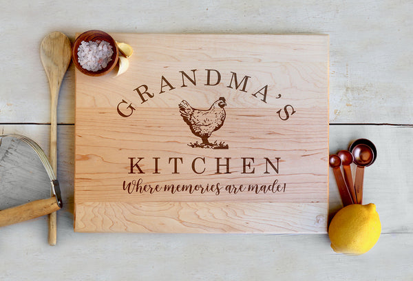 Custom Grandma's Kitchen Cutting Board, Where Memories Are Made