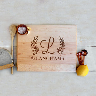 "Custom Maple Cutting Board ""The Langhams"""