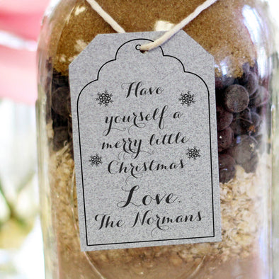 "Gift Tag Stamp ""Merry Little Normans"""