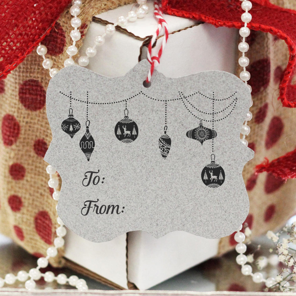 "Gift Tag Stamp ""Ornament To/From"""