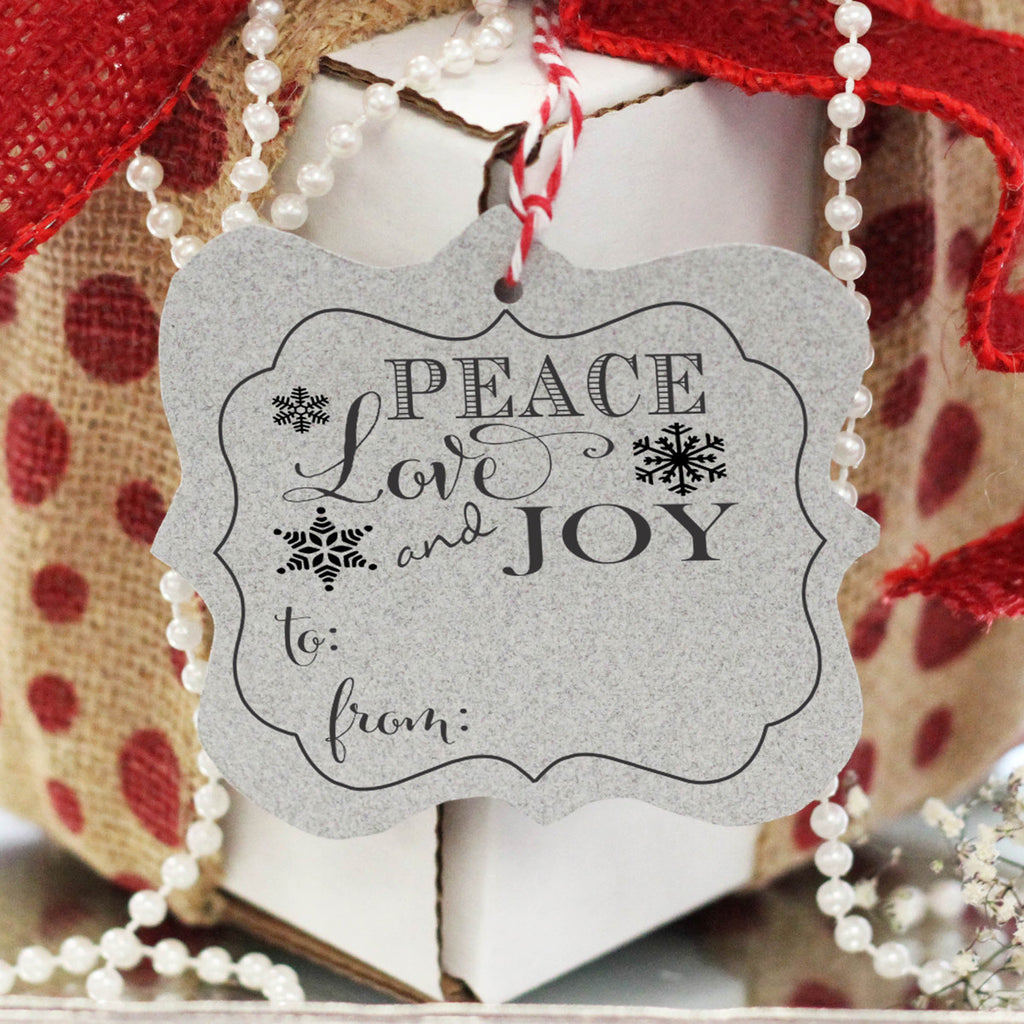 "Gift Tag Stamp ""Peace Love Joy"""