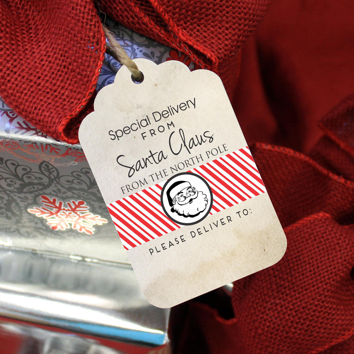 reusable christmas gift tags special delivery from santa set of 5