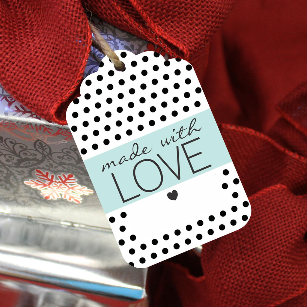 "Reusable Gift Tags ""Made with Love"" (Set of 5)"