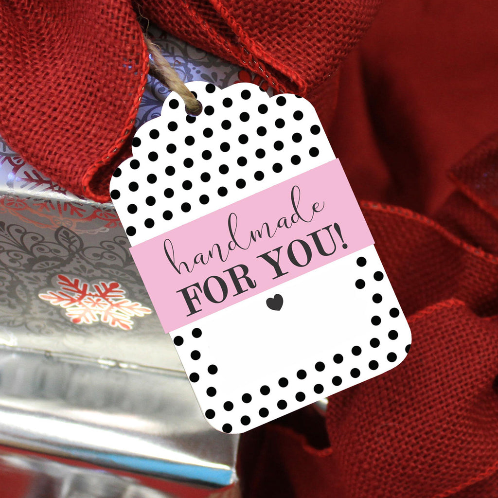 "Reusable Gift Tags ""Handmade for You"" (Set of 5)"