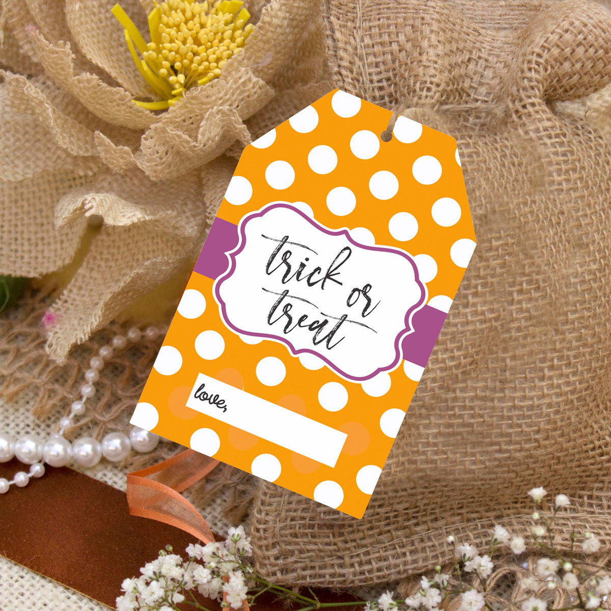 It is a photo of Astounding Halloween Tags for Goodie Bags