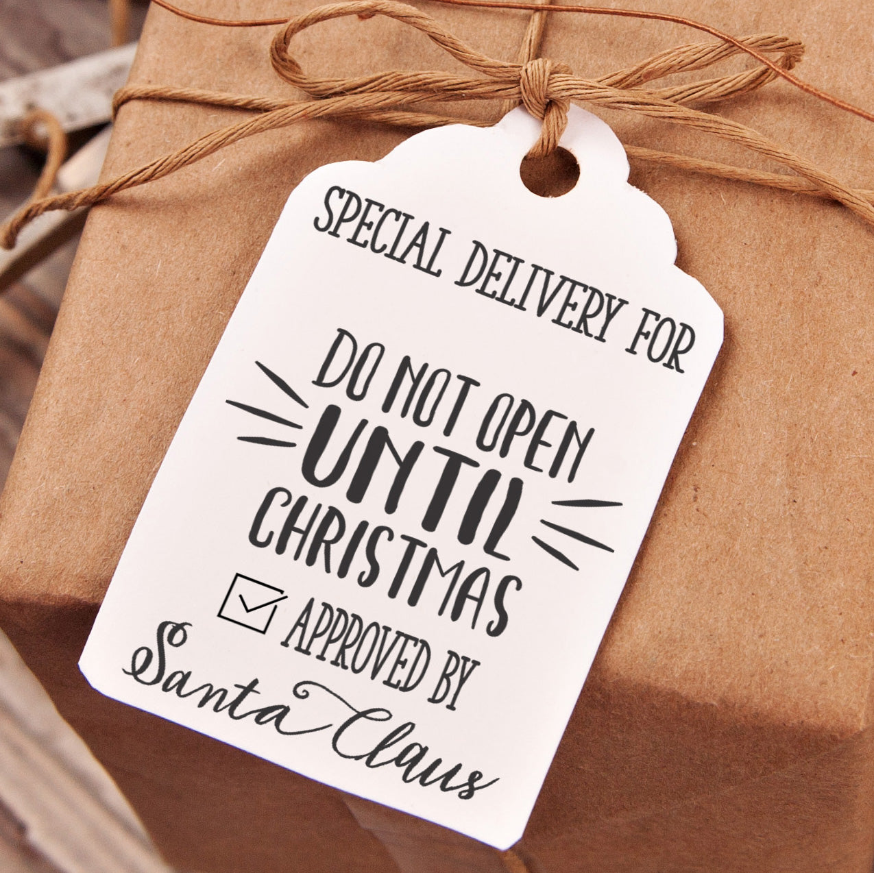 Dont Open Till Christmas.Christmas Gift Tag Stamp Do Not Open Until Christmas