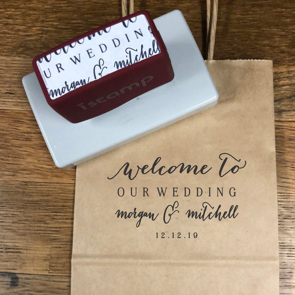 LARGE Welcome to Our Wedding Stamp, Wedding Stamp, DIY Wedding Stamp