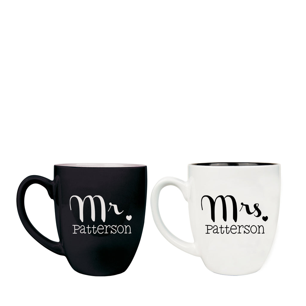 Mr & Mrs Ceramic Mug Set