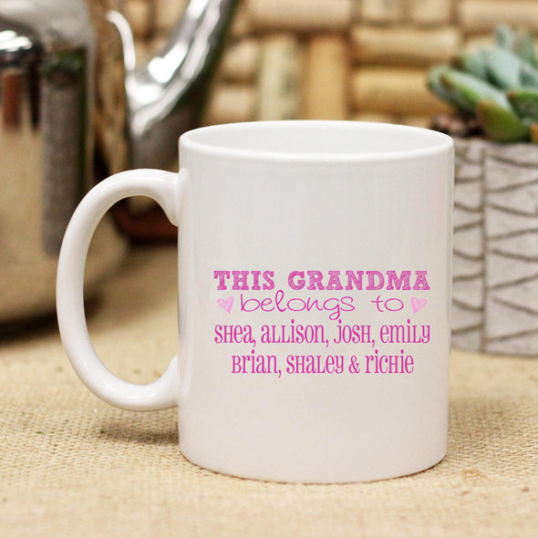 "Ceramic Mug ""This Grandma Belongs to"""