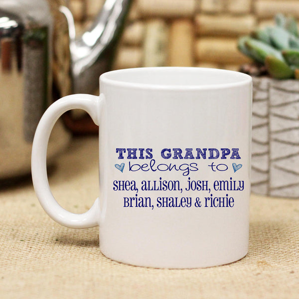 "Ceramic Mug ""This Grandpa Belongs to"""