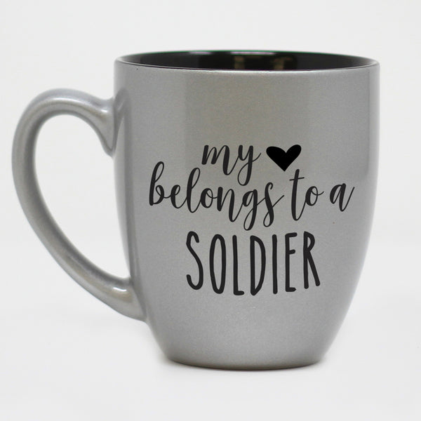 My Heart Belongs To A Soldier Coffee Mug