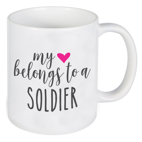 My Heart Belongs To A Soldier Mug