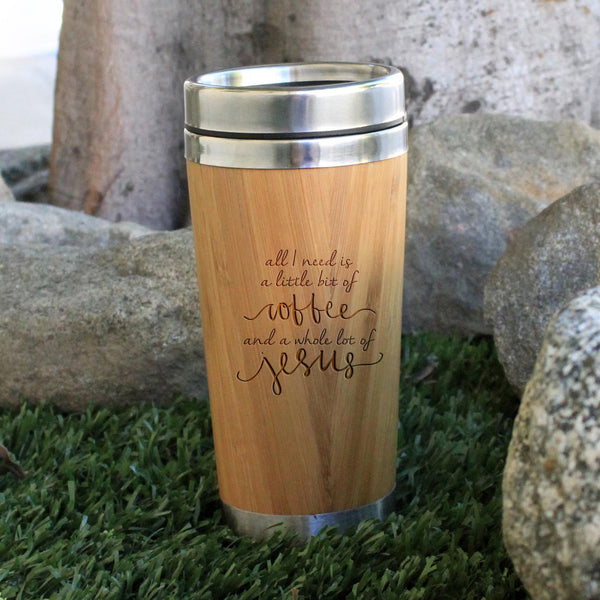 "Travel Mug ""Little Coffee & Jesus"""