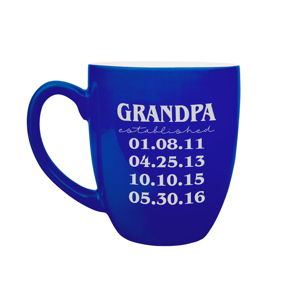 Custom Grandpa Mug With Grand-kid Dates