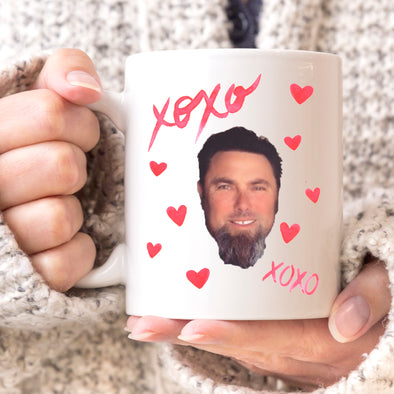 Custom XOXO Photo Mug, Personalized Photo Mug, Custom Mug, Picture Mug, Custom Coffee Mug, Personalized Coffee Mug, Personalized Photo Mug