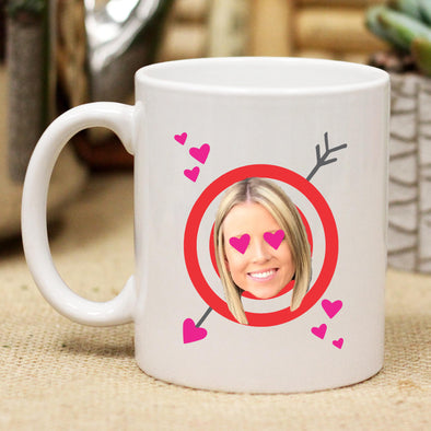 Custom Valentine Bullseye Photo Mug, Personalized Photo Mug, Custom Mug, Picture Mug, Custom Coffee Mug, Personalized Coffee Mug, Personalized Photo Mug