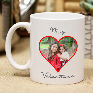 Custom My Valentine Photo Mug, Personalized Photo Mug, Custom Mug, Picture Mug, Custom Coffee Mug, Personalized Coffee Mug, Personalized Photo Mug