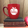 Teacher Gift, Teacher Mug, Custom Teacher Mug, Apple Mug