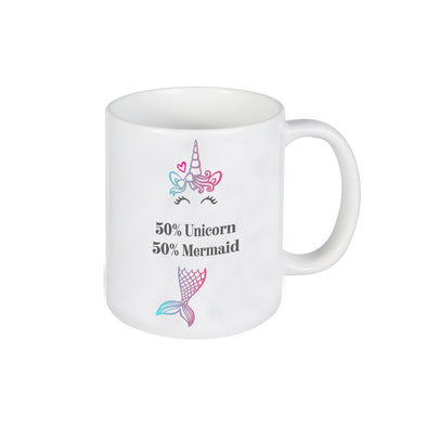 Mermaid Unicorn Mug, Mug for Kids, Personalized Ceramic Mug, Custom Mug