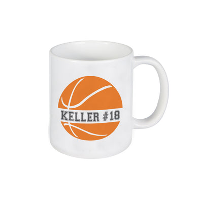 Basketball Mug, Mug for Kids, Personalized Ceramic Mug, Custom Mug