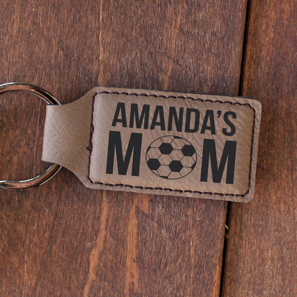 "Personalized Engraved Key Chain - ""Amanda's Mom"""