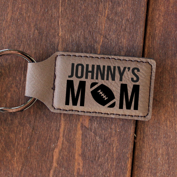 "Personalized Engraved Key Chain - ""Johnny's Mom"""