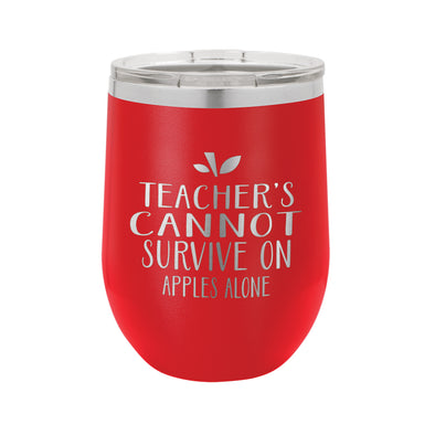 Personalized Wine Tumbler, Teacher