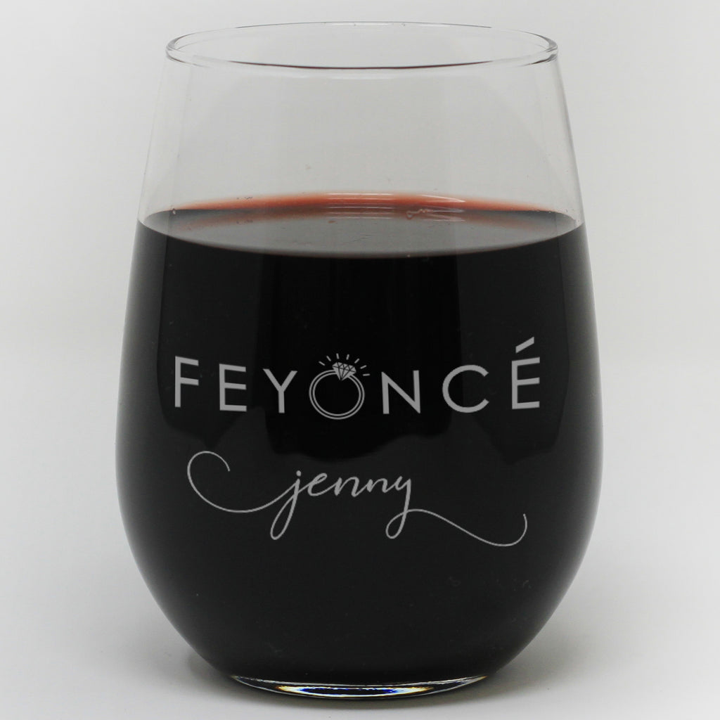 Feyonce Wine Glass Personalized