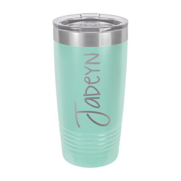 "Insulated Cup, Insulated Thermos, Travel Cup, Personalized Cup, Custom Thermos ""Jadeyn"""